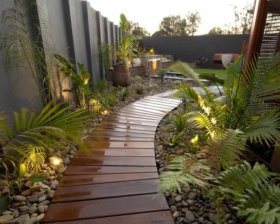 Une allée dans un jardin pour qu\'il soit parfait - Moving Tahiti