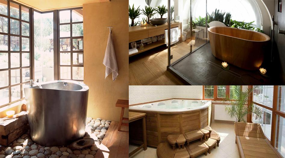 Une salle de bain japonaise moving tahiti Salle de bain marine