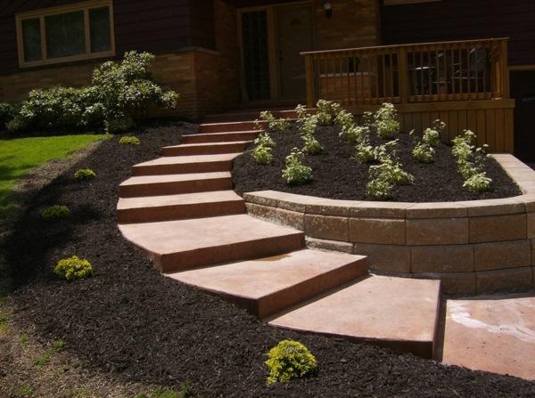 Des escaliers dans votre jardin moving tahiti - Escalier jardin ...