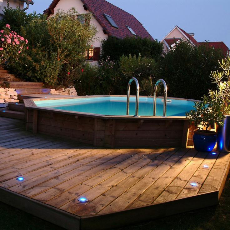 Piscine creus e semi creus e ou hors sol laquelle choisir - Terrasse bois piscine hors sol ...