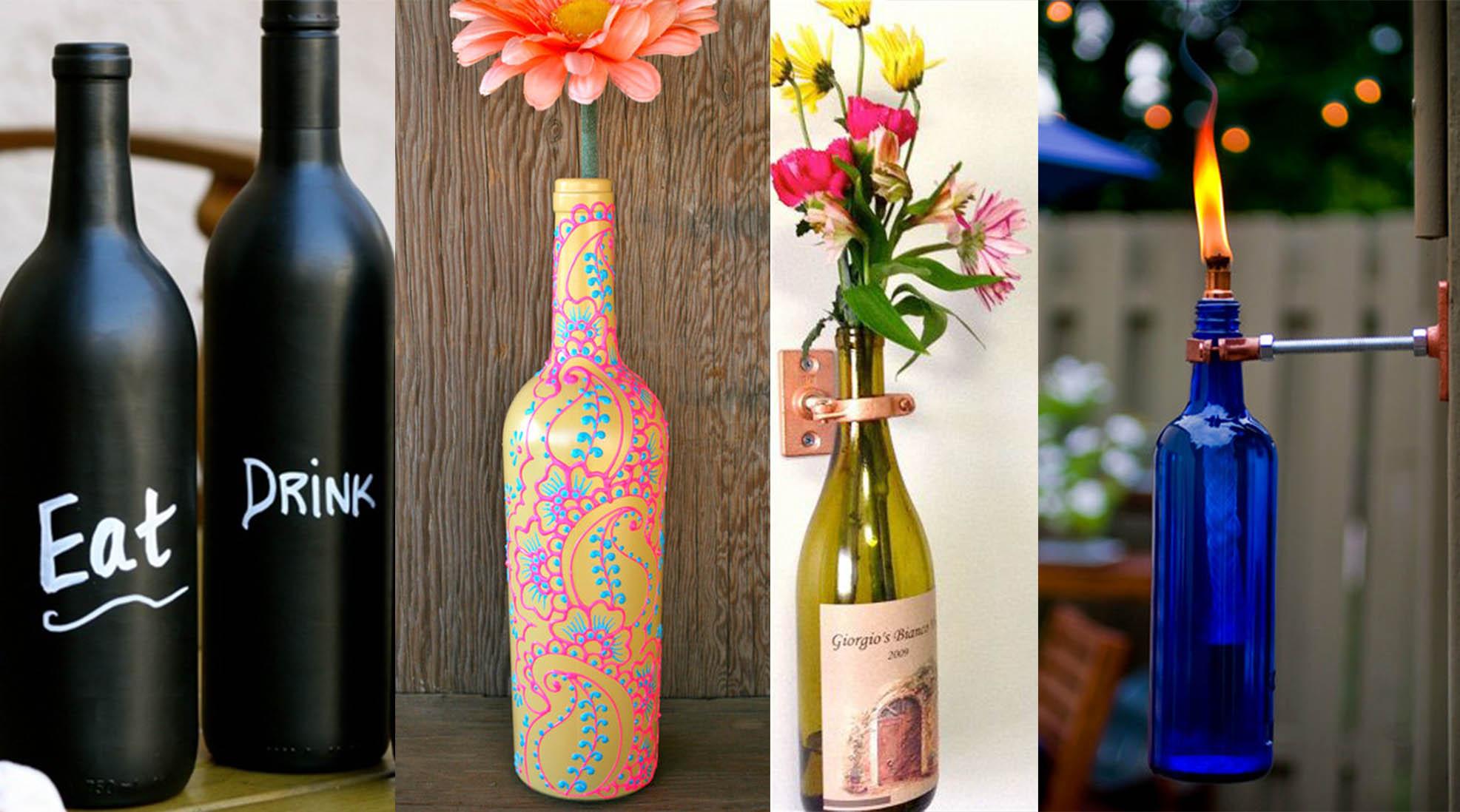 Diy des id es d co pour recycler vos bouteilles de vin for Des idees deco pour tout recycler