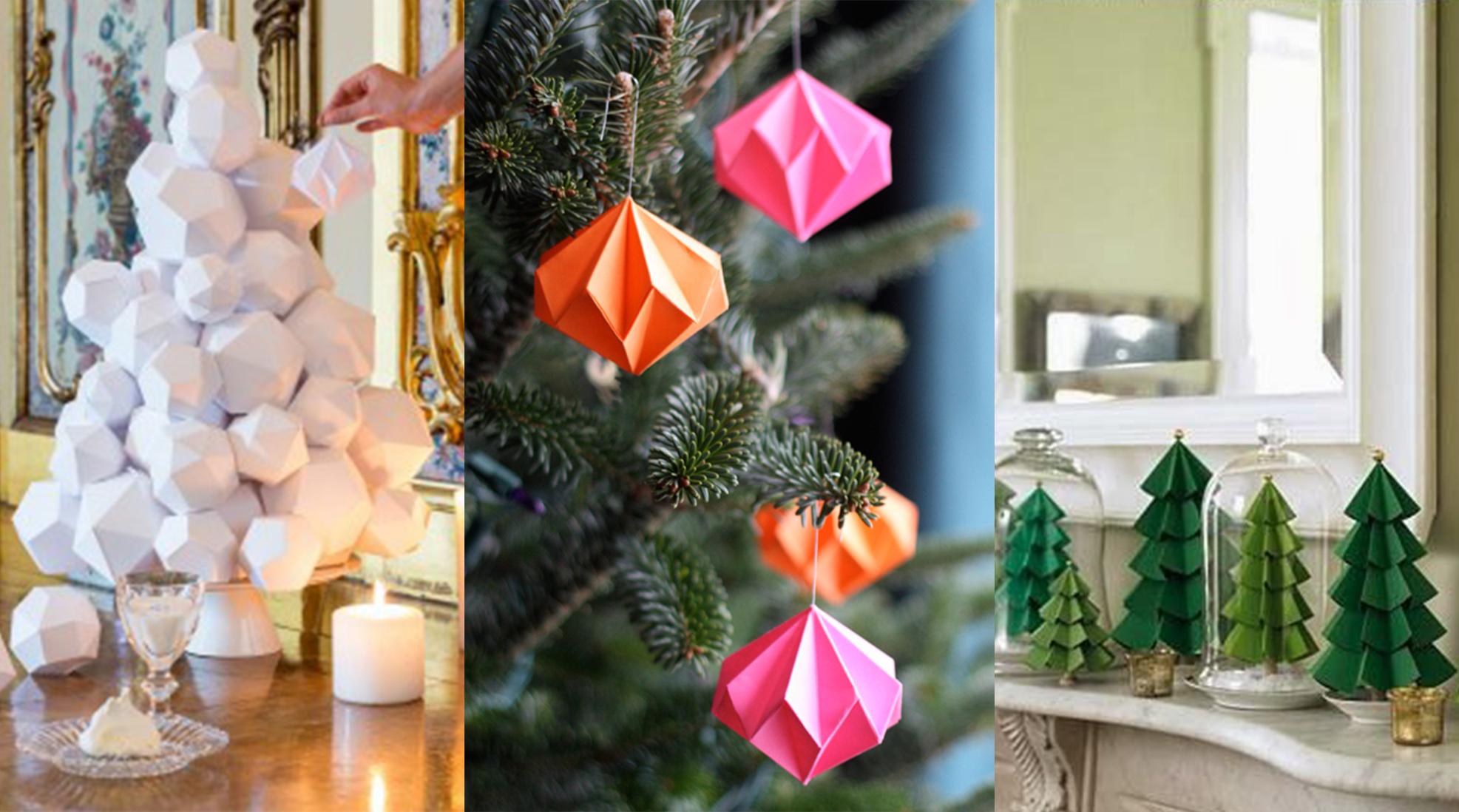 #A45E27 DIY : Notre Sélection De Décorations De Noël à Faire Soi  5413 décorations de noel en papier 1973x1098 px @ aertt.com