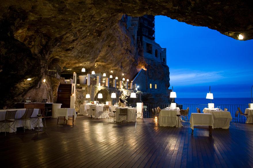 Restaurant Italie Grotte Mer