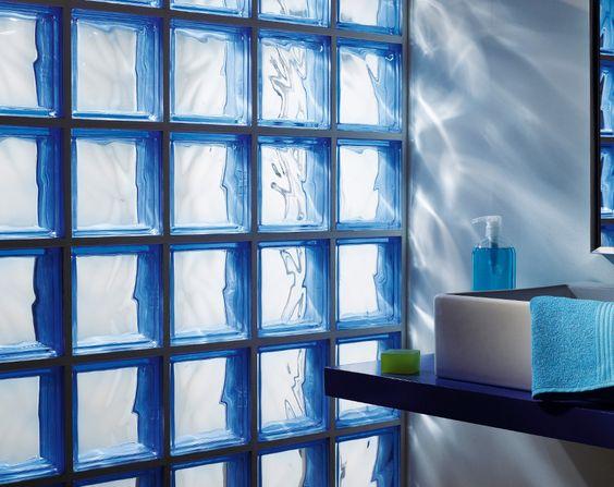 déco : on craque pour des cloisons en briques de verre - moving tahiti - Briques De Verre Salle De Bain
