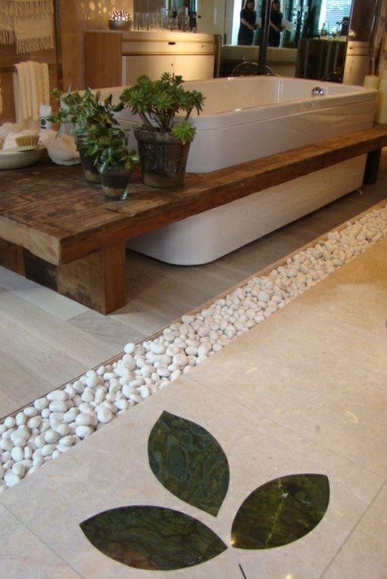Sublimez votre salle de bain avec des galets moving tahiti for Galet sol salle de bain