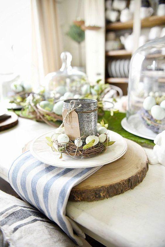 deco une table rustique chic pour celebrer paques With nice maison en l avec tour 4 realiser un jardin de paques