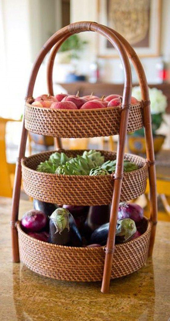 panier (3) | Rangement légumes, Accessoires cuisine, Idées de panier